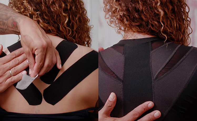 Woman with kinesiotape
