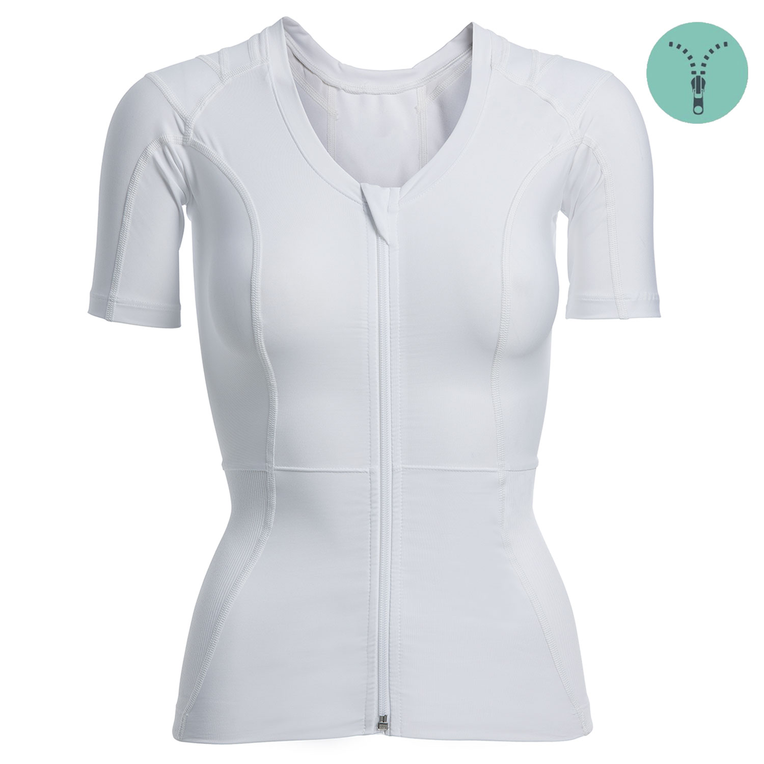 Image of   Women's Posture Shirt 2.0 Zipper (hvid) Large